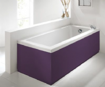 High Gloss Aubergine ( Purple ) 2 Piece adjustable Bath Panels